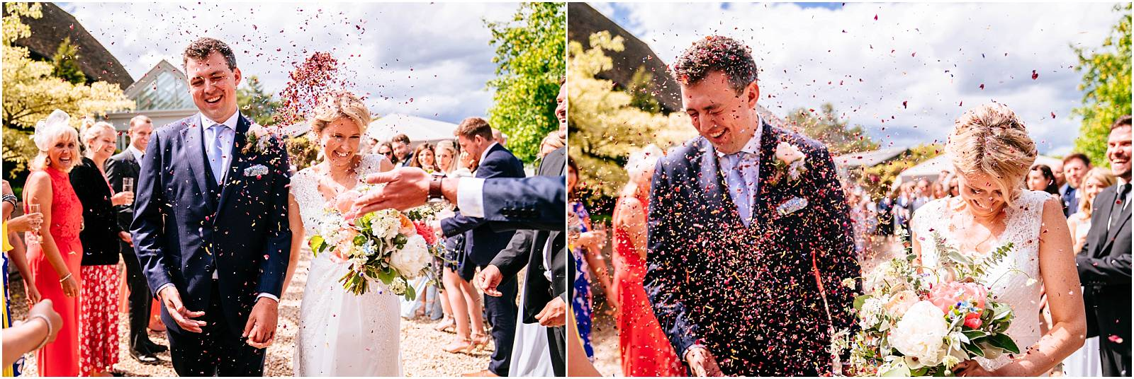 surrey wedding photographer confetti shot