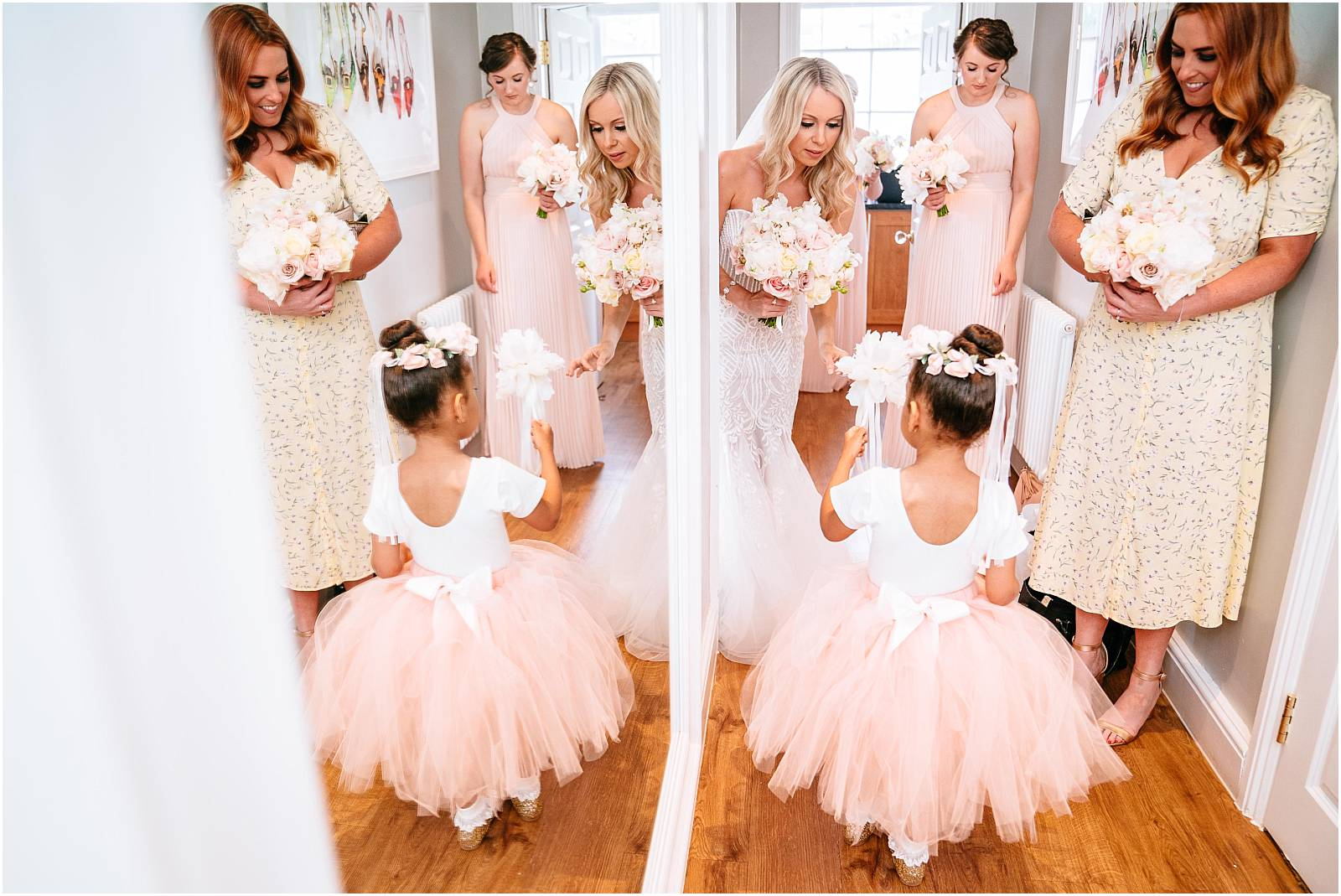 bridesmaid and flower girl in tutu