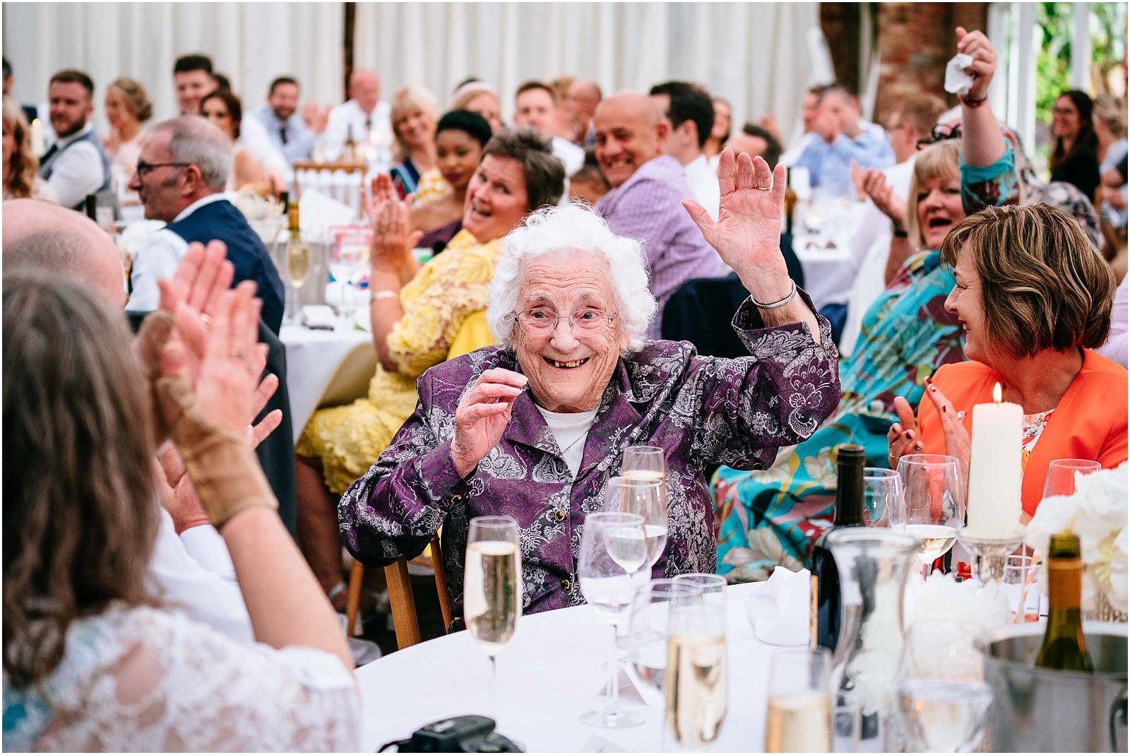 granny at wedding
