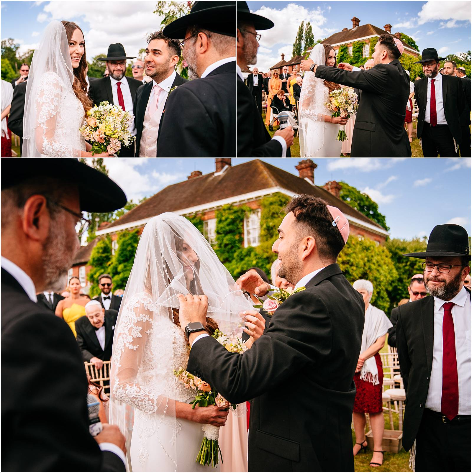 bedecken during jewish wedding ceremony