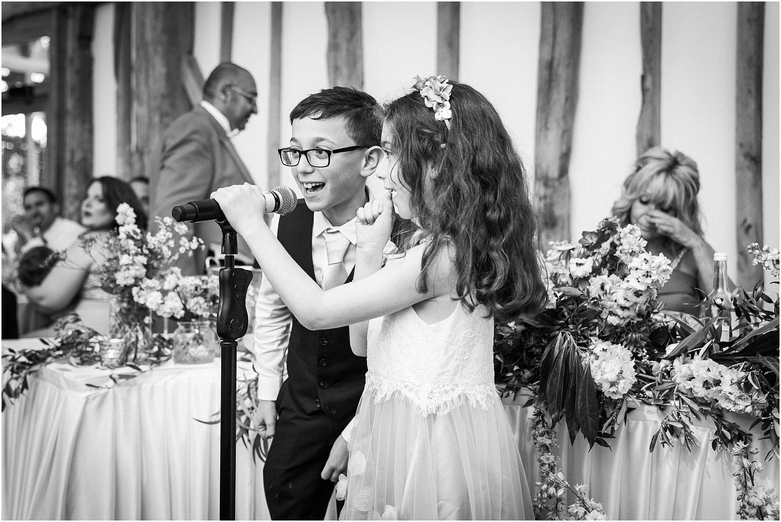 cute kids make wedding speeches