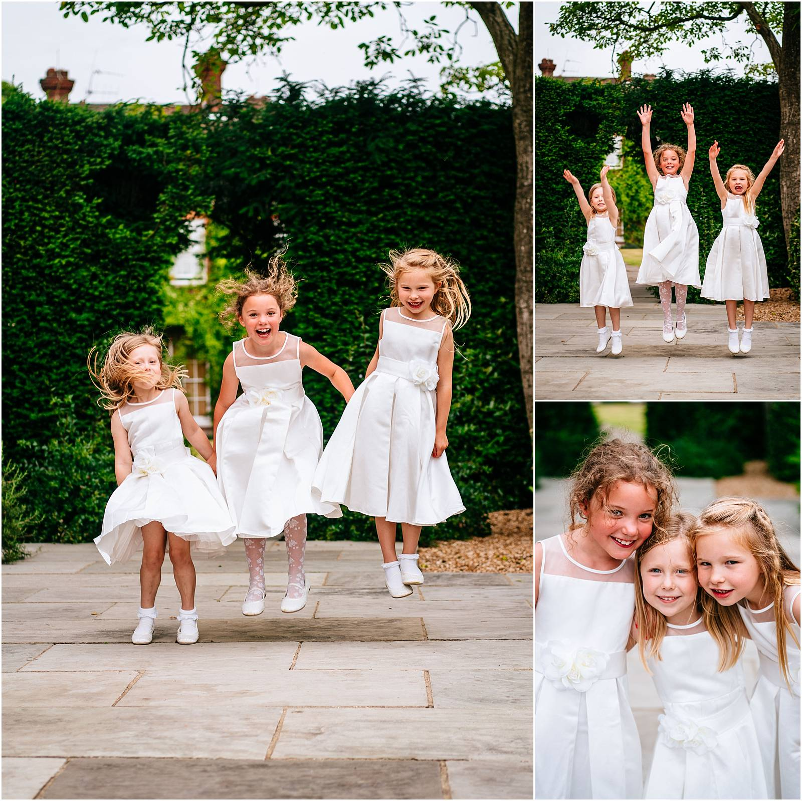 jumping flowergirls