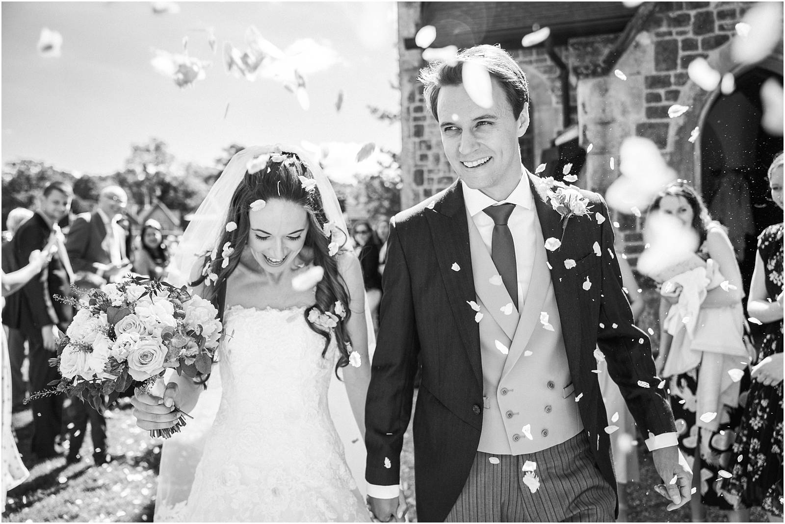 black and white confetti photograph