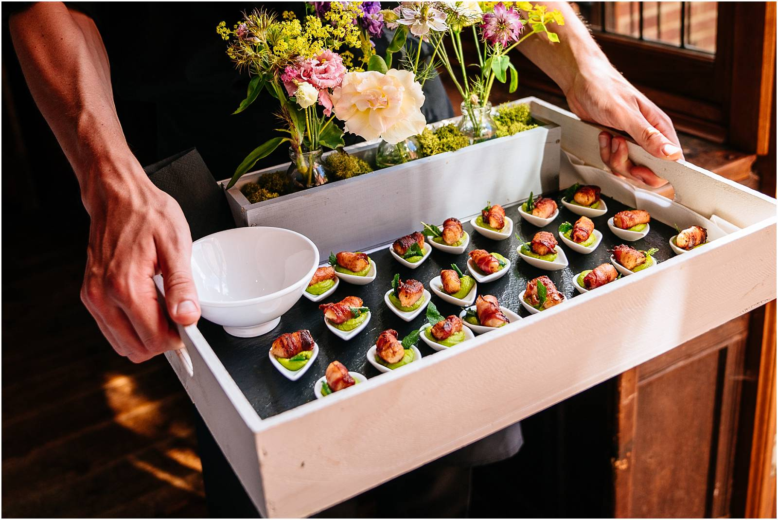 jacaranda canapes at ramster hall