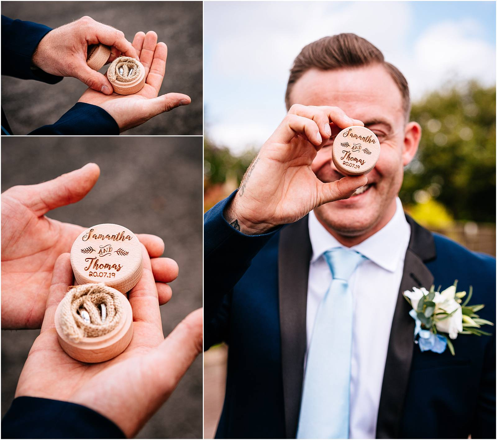 best man with personalised ring box