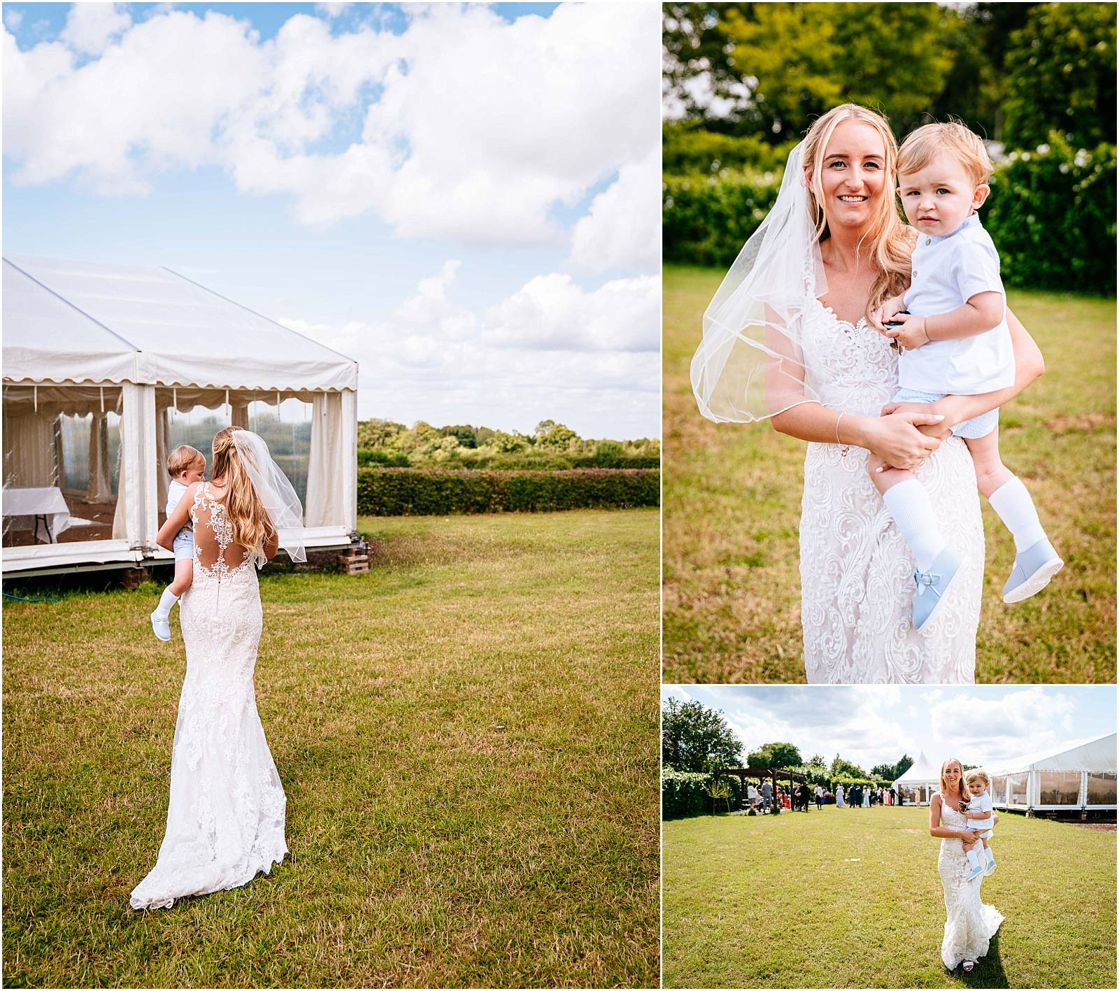 Bride and her gorgeous son