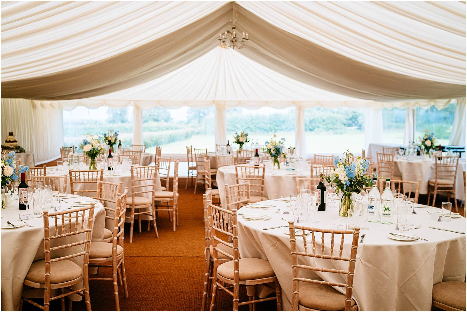 pretty marquee in surrey zinnia gardens