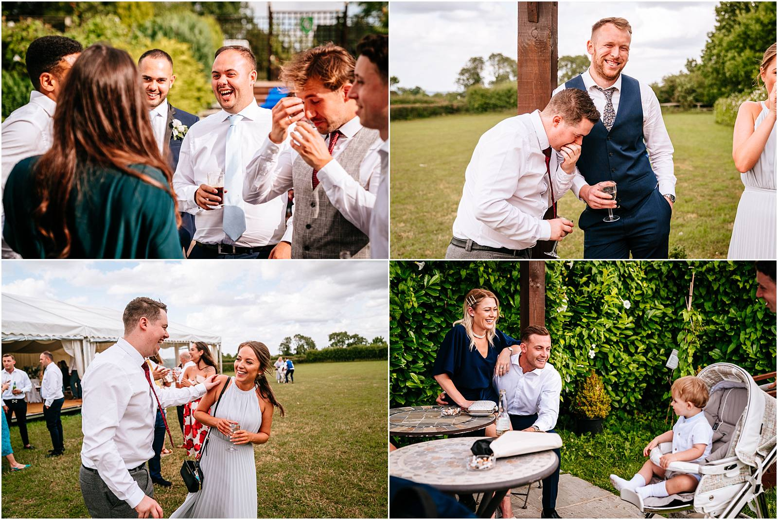 relaxed photos of guests having fun