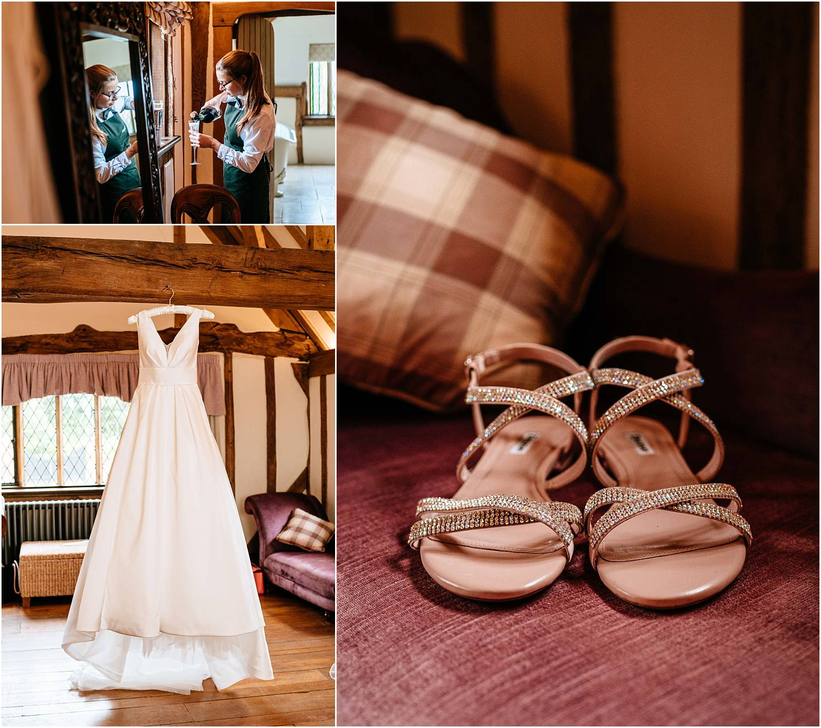 wedding details at cain manor bride prep