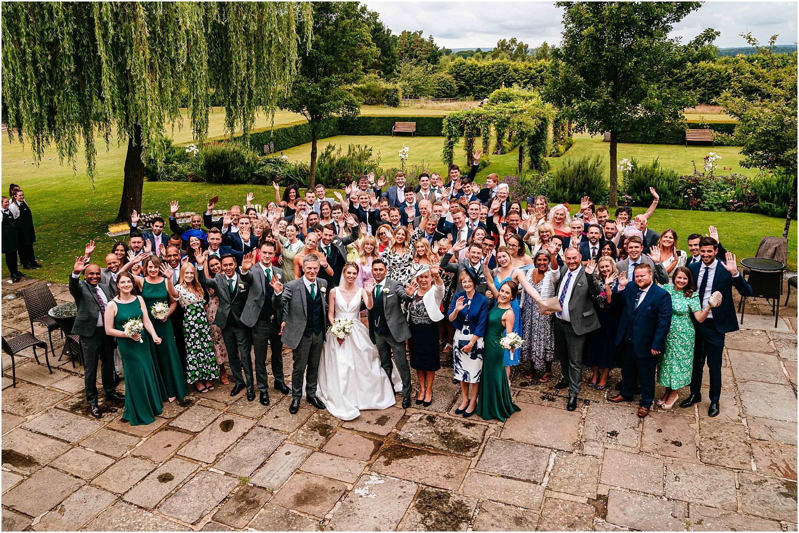 big group photograph at cain manor