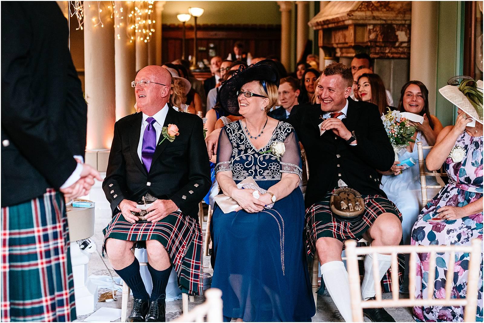 laughing during wedding
