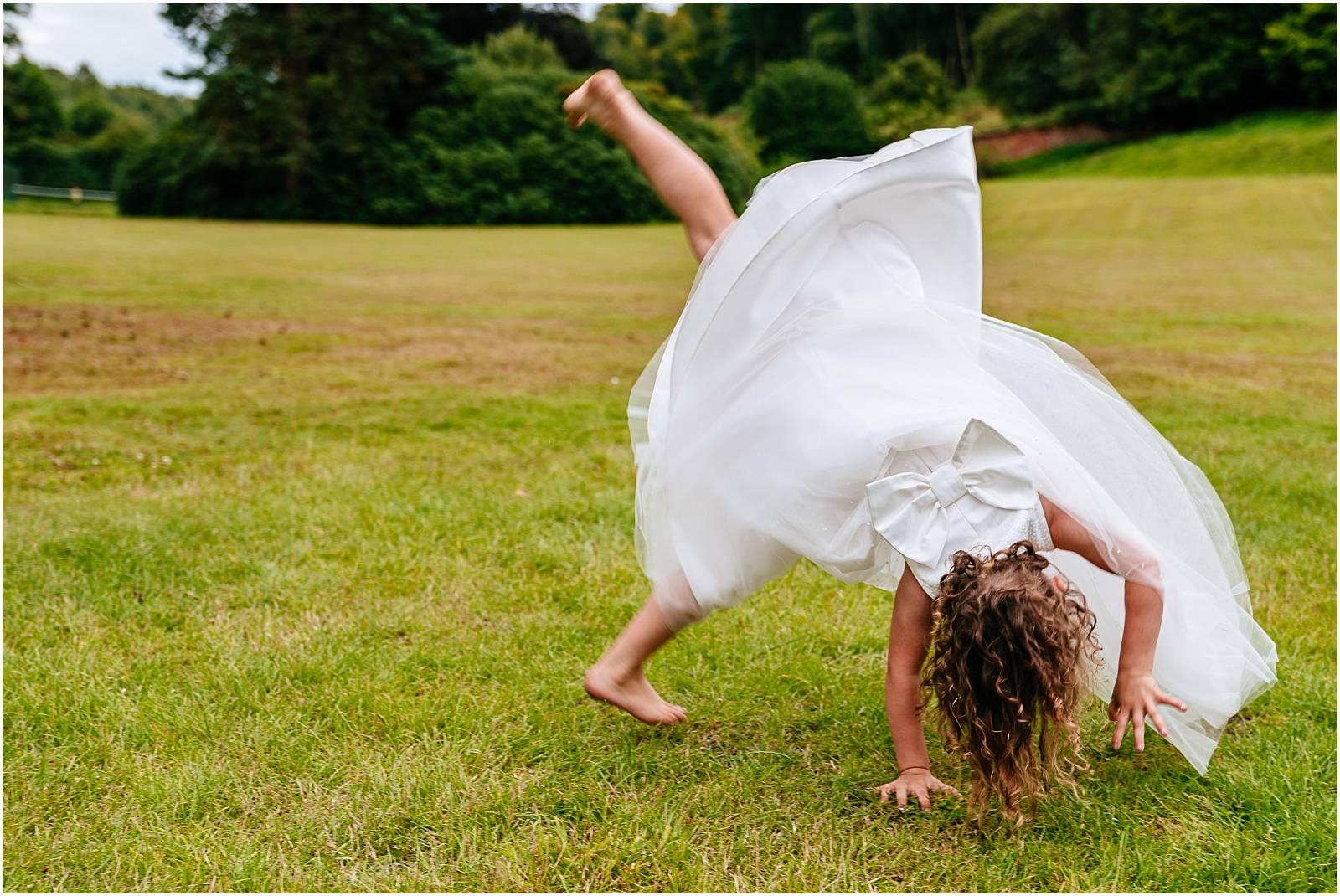 flower girl cartwheel