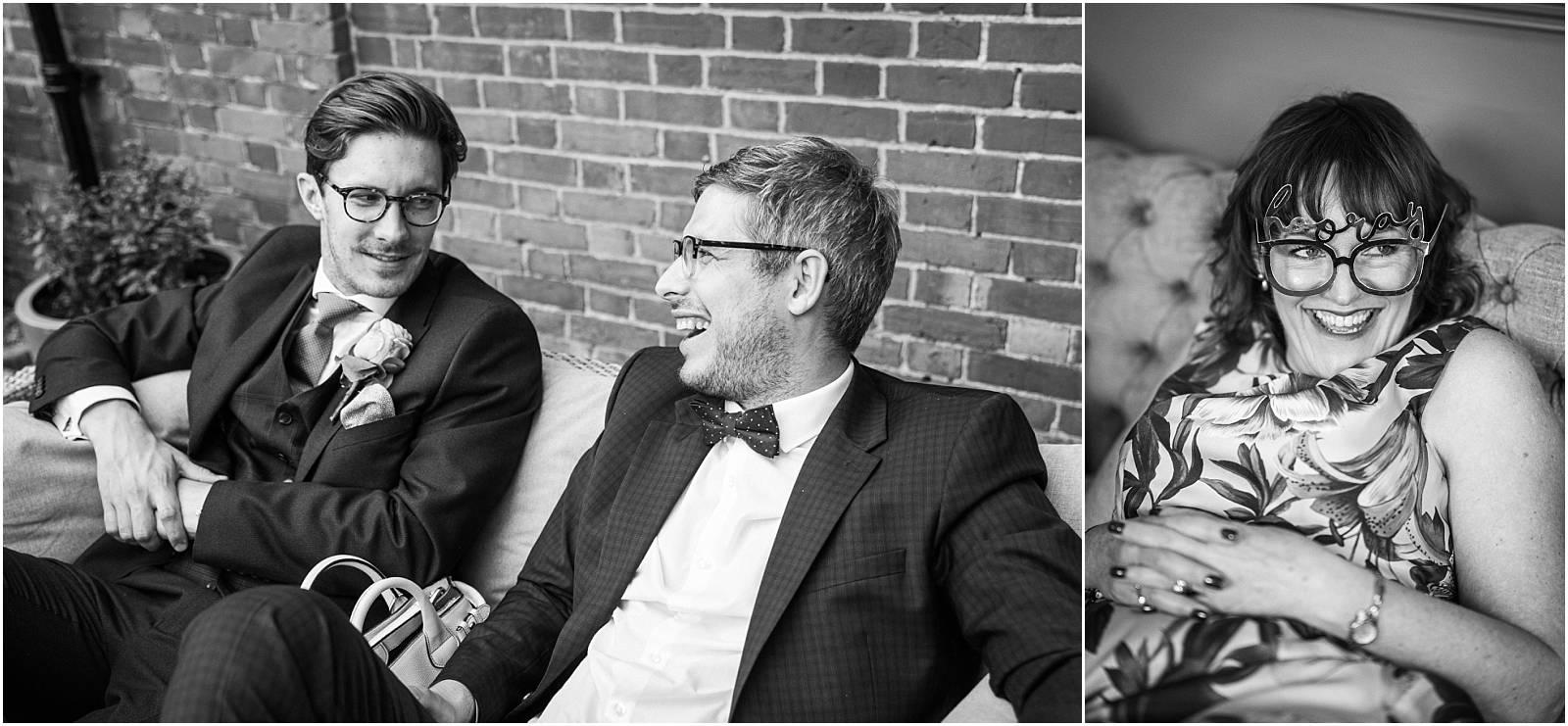 black and white wedding shots