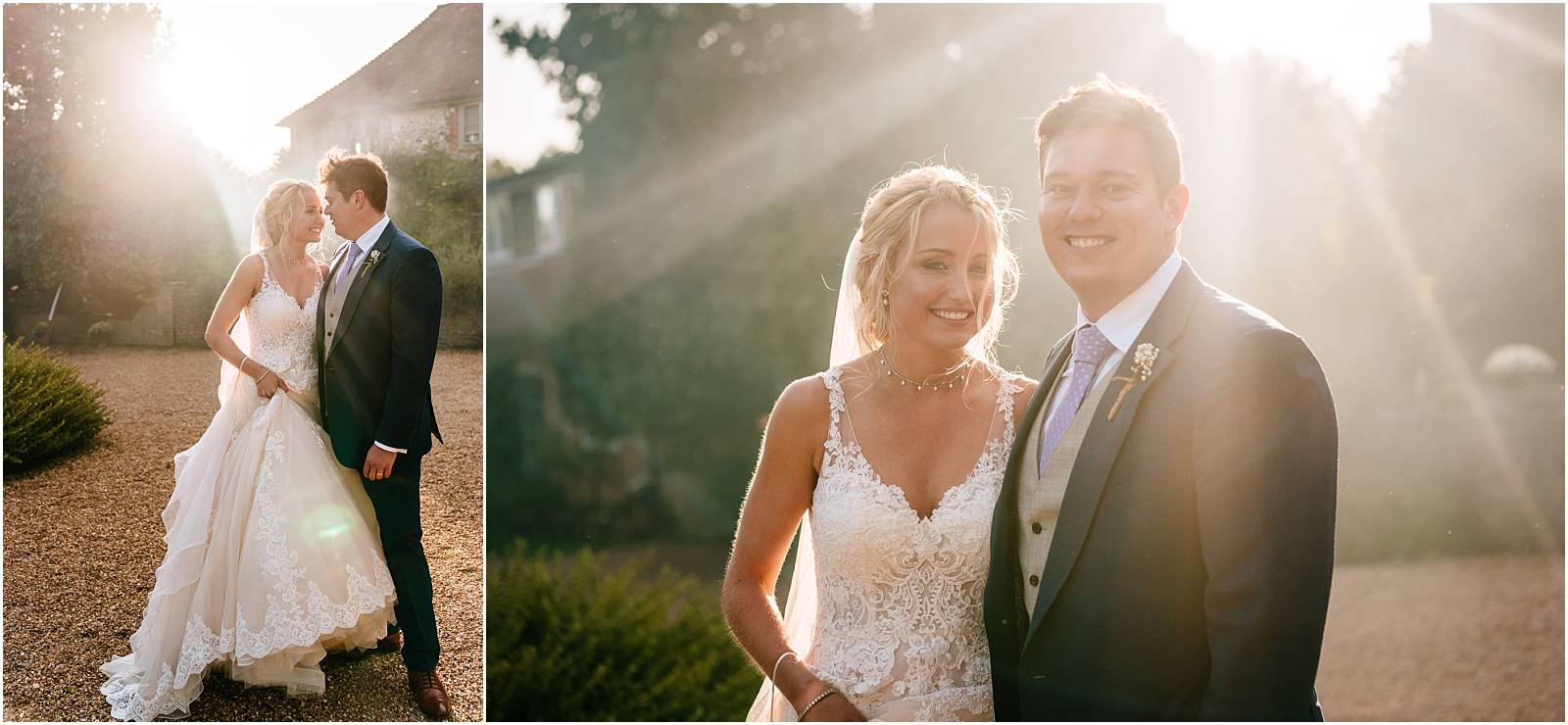 golden hour wedding photographs