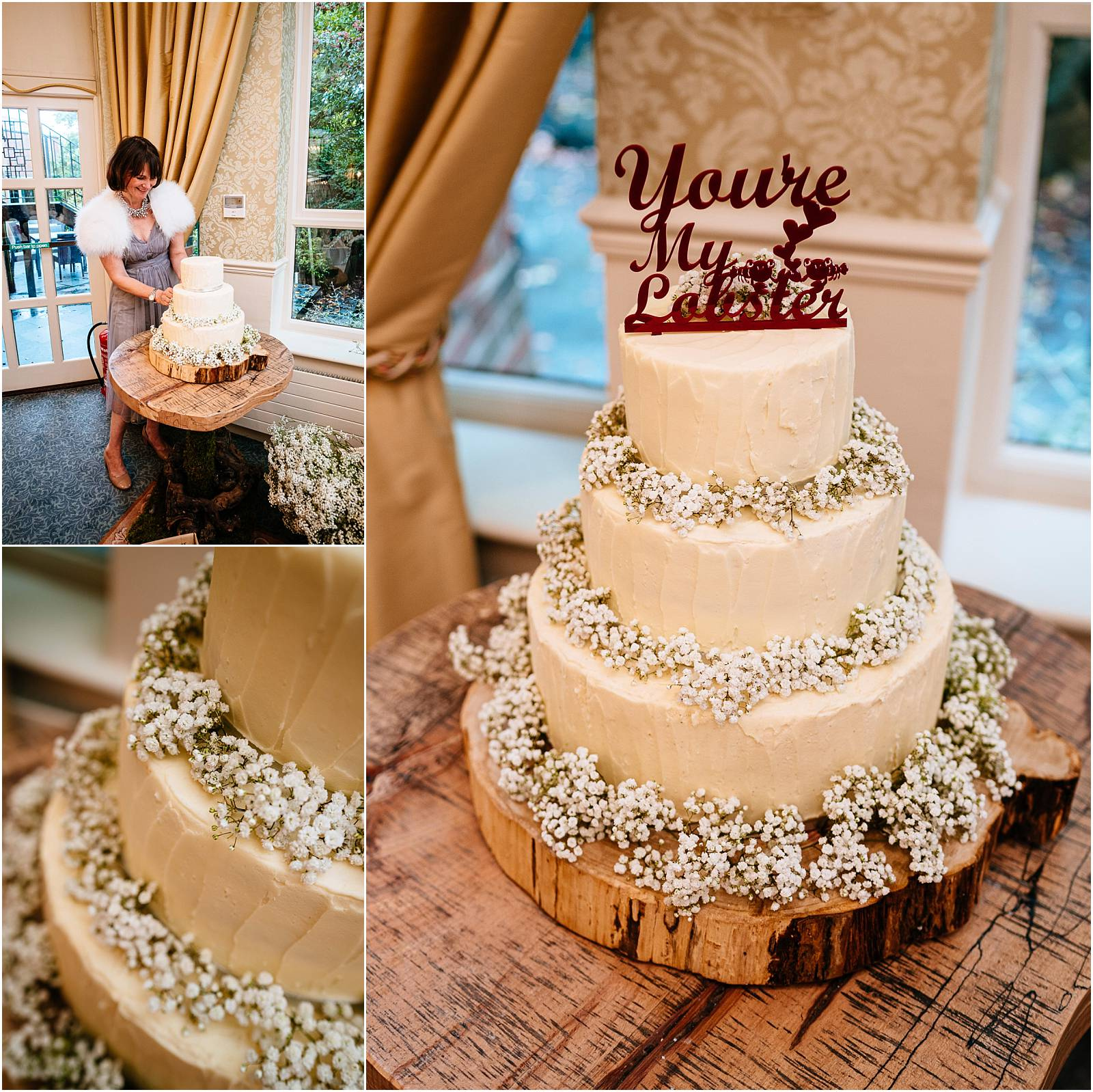 wedding cake by talented cake making guest