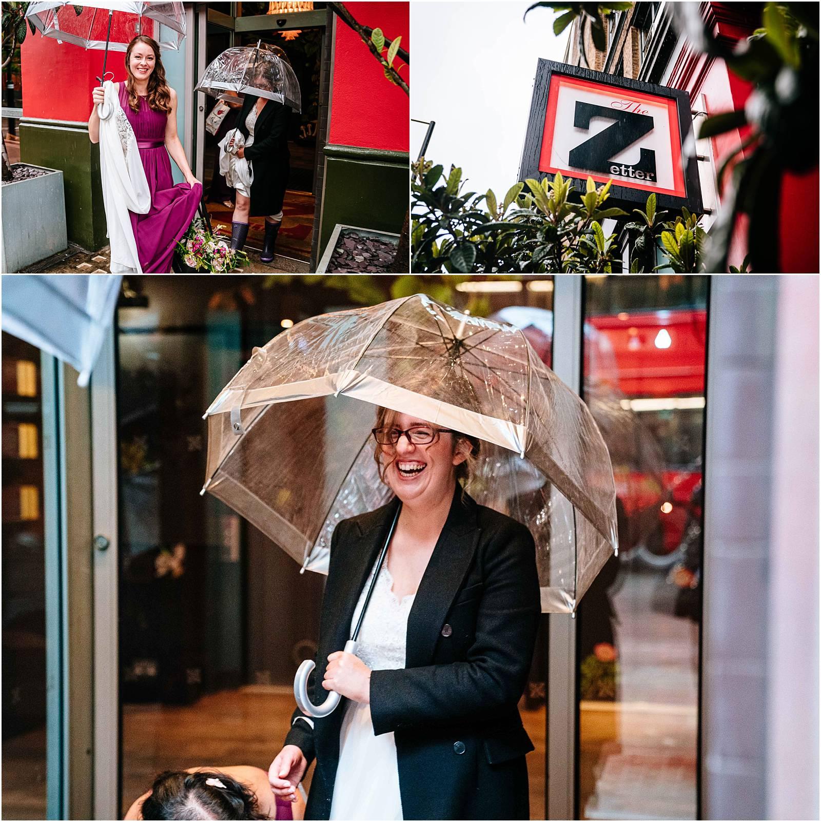 rainy london wedding photography