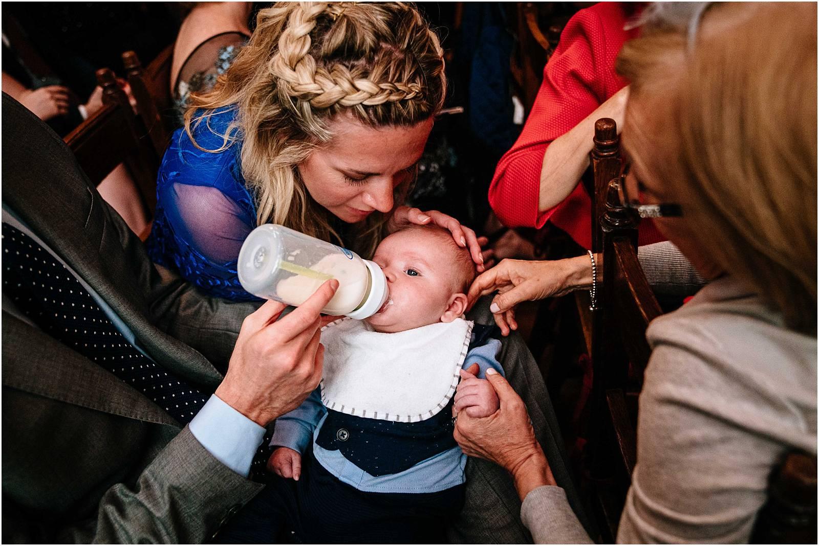 little baby at wedding