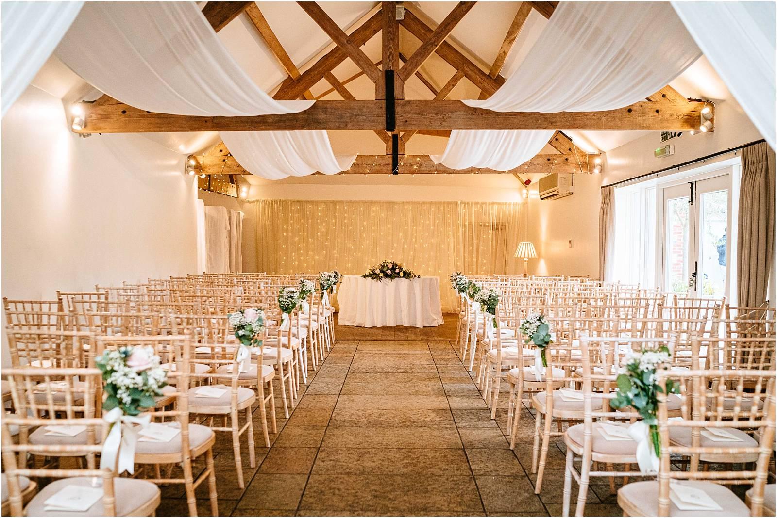 farbridge set up for wedding ceremony