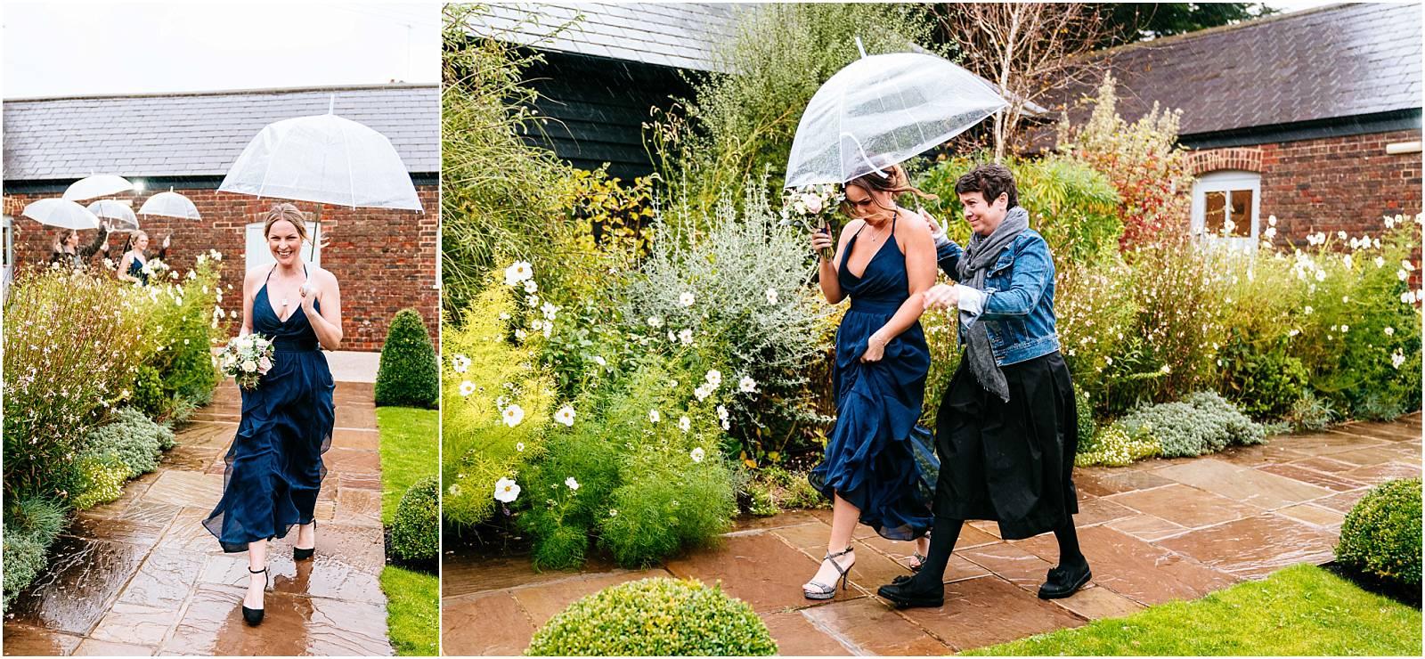 rainy walk to farbridge wedding