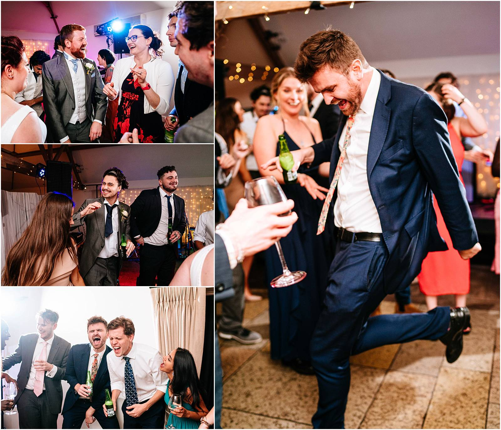 guests enjoying dancing at wedding