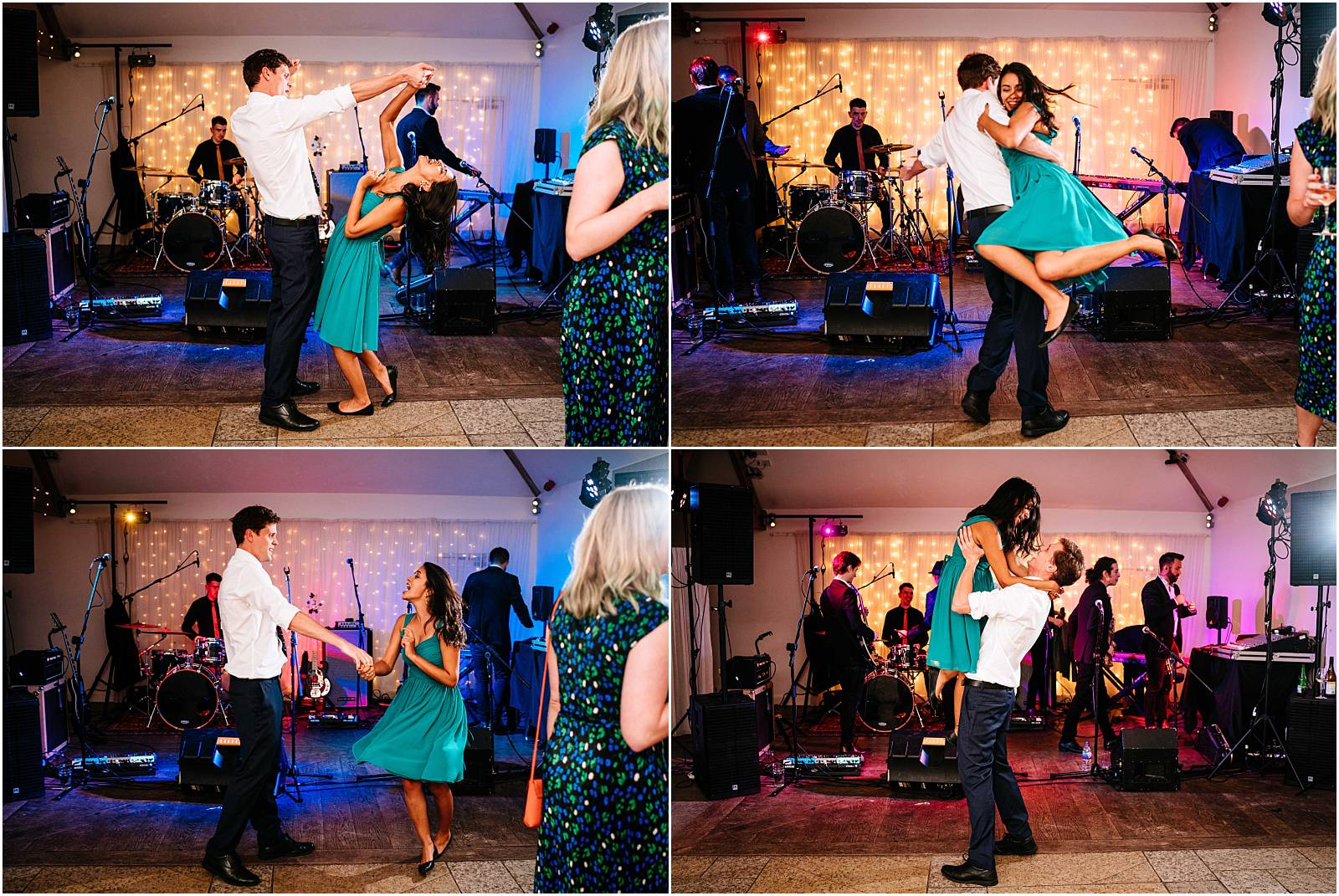 wedding guests jive the night away