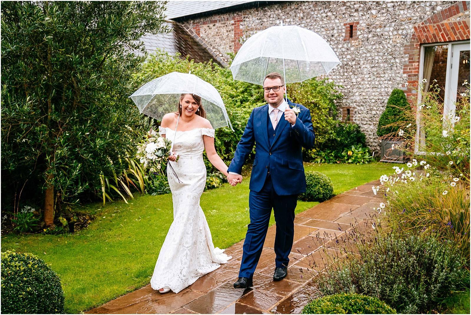 wedding photographs rain