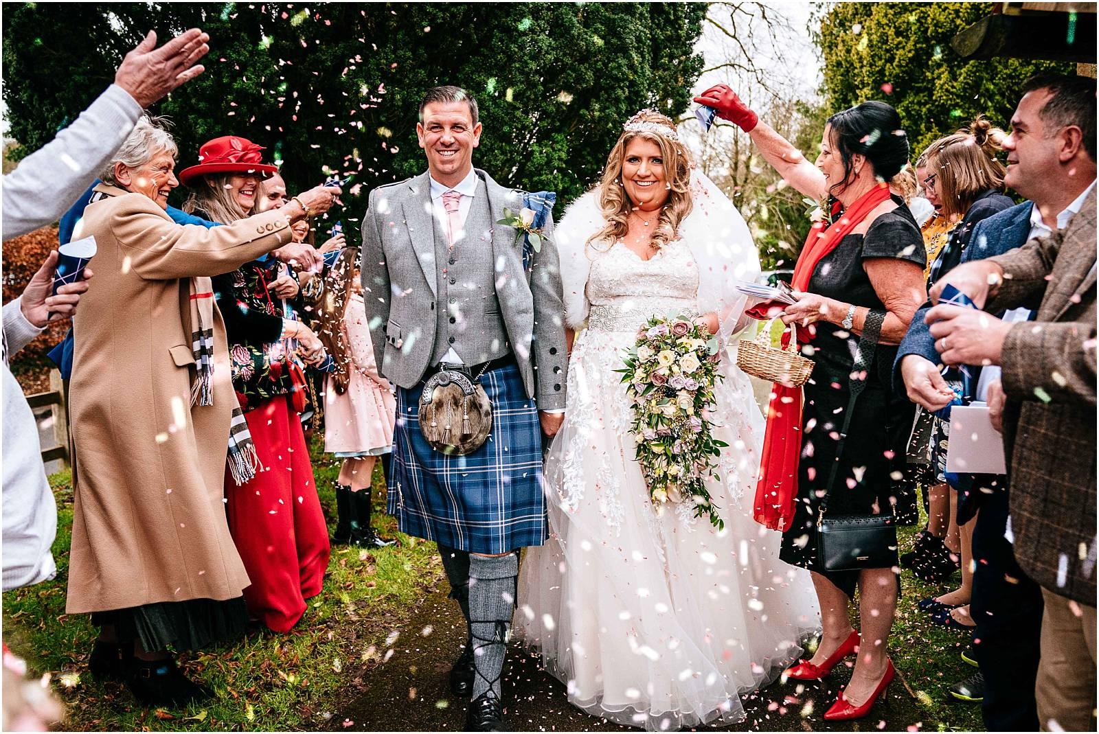 Cain Manor Wedding Photography – Kerry & William's Winter Wedding