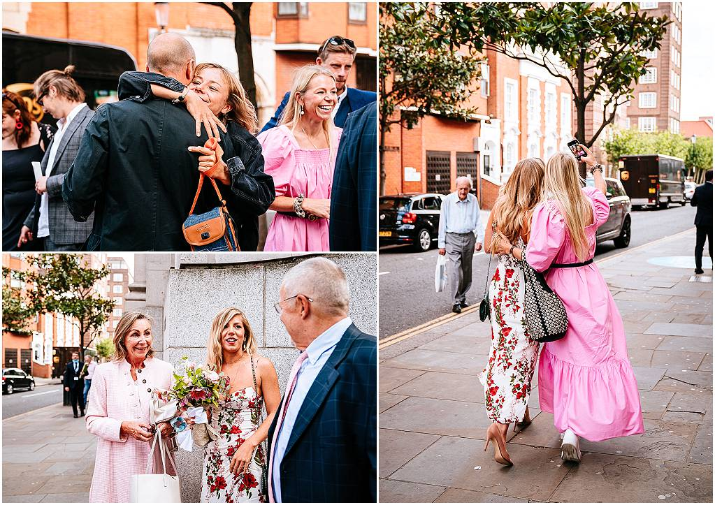 Mingling chelsea old town hall wedding photography