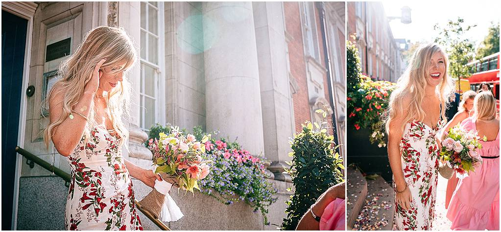 beautiful bride at london wedding