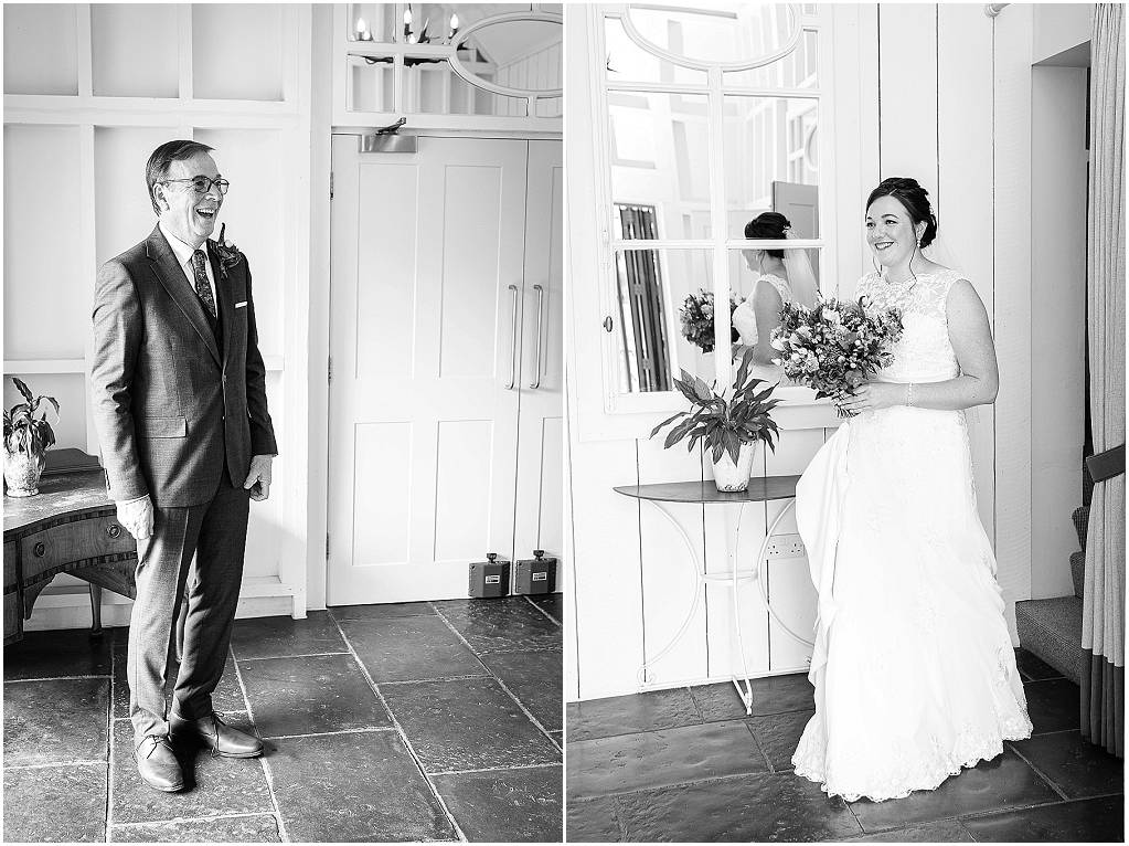 dad seeing bride for first tie