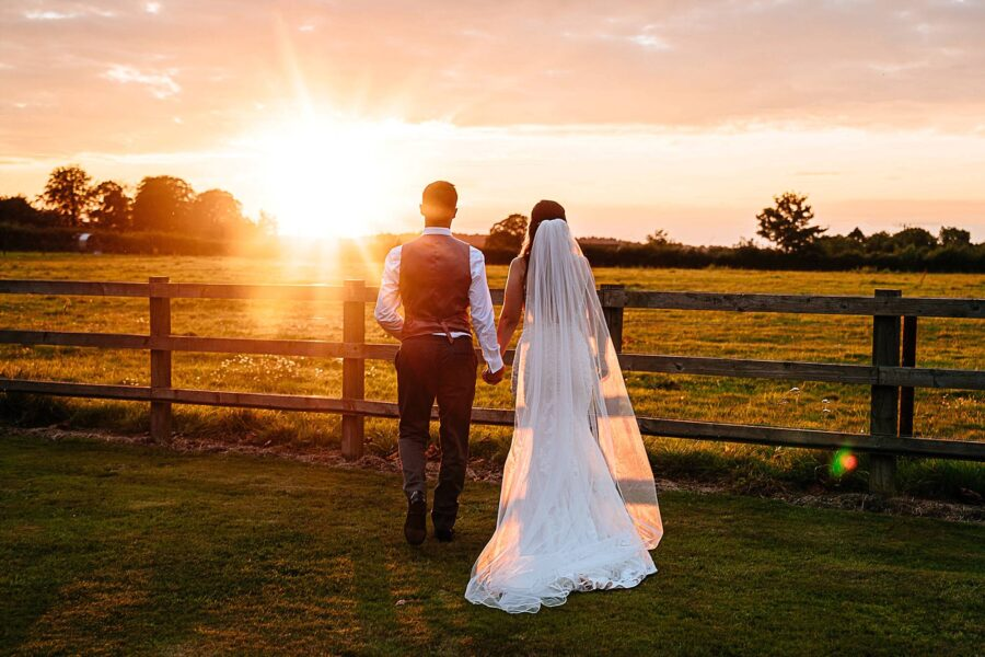 Incredible sunset at micklefield hall in september